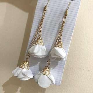 White Dangling Earrings