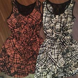 洋裝 連身洋裝 蝴蝶結 兩件一起150元