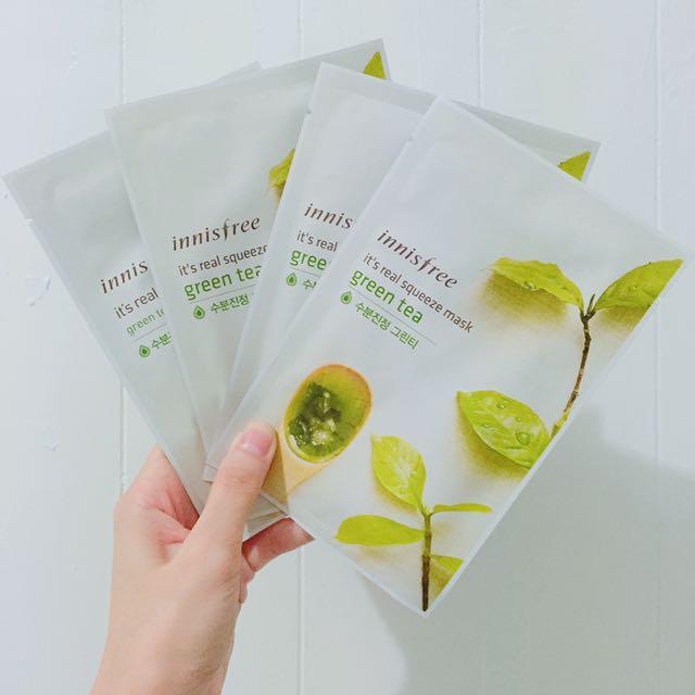 ❗️買10送5/ innisfree鮮榨綠茶面膜