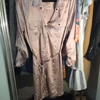 Button Up Silky Dress Shirt