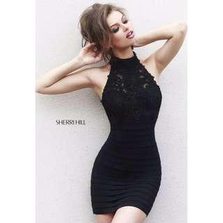 32048 Sherri Hill Black Dress Sizes USA 0-8/ AUS 6-12