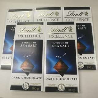 Lindt 瑞士蓮.極醇系列 海鹽巧克力片 Excellence A Touch of Sea Salt