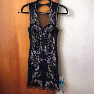 Miss Selfridge Sequin Dress Size 8