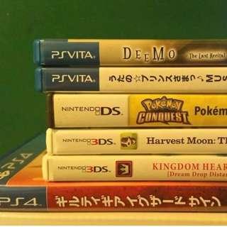 PSVita PS4 DS 3DS Games