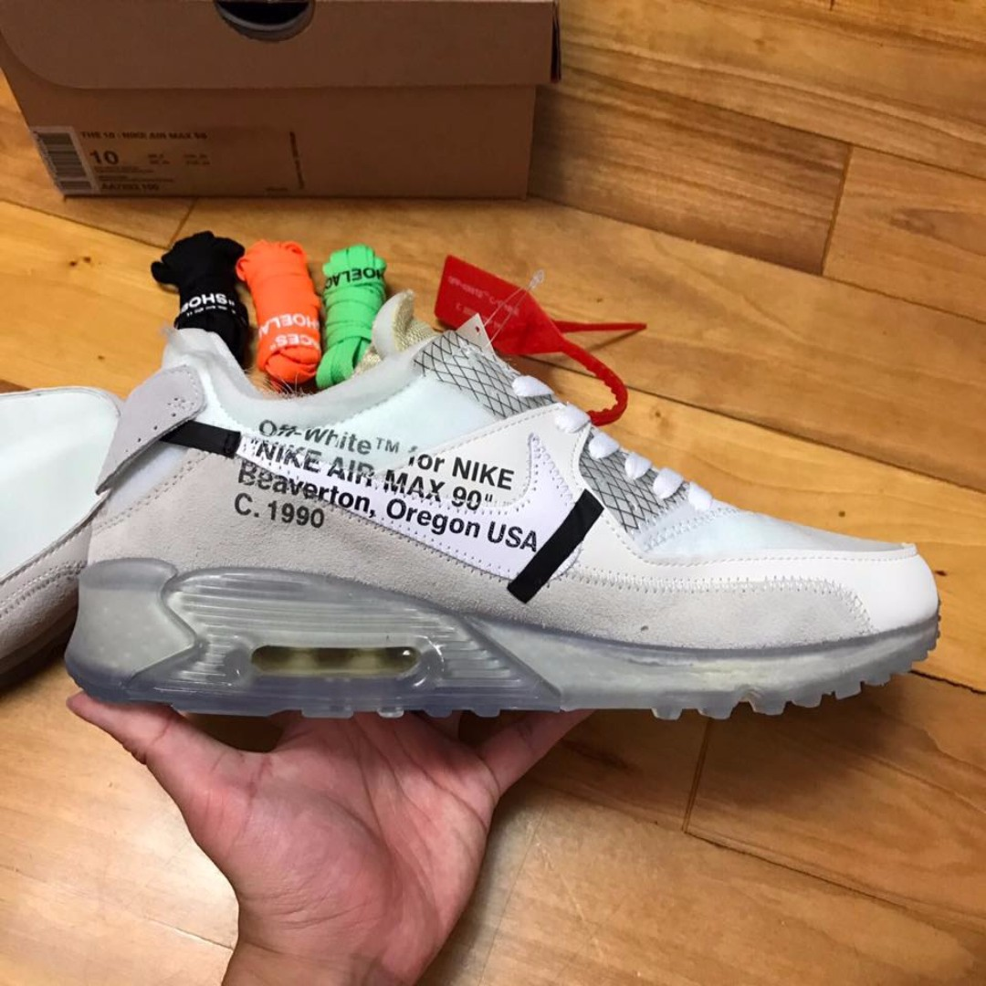 new products 3a952 f1c75 1 1 Off White x Nike Air Max 90 Ice, Men s Fashion, Footwear on Carousell
