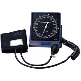 MTI WALL/DESK ANEROID BLOOD PRESSURE APPARATUS WITH STETHOSCOPE