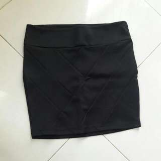 Body Con Stradivarius Mini Skirt