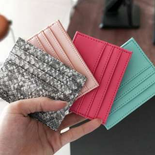 Leather Card Holder New Colors!!!