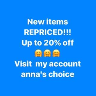 Items REPRICED!!!