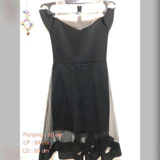 Dress Sabrina Hitam