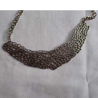 Honeycomb Statement necklace or Bib necklace