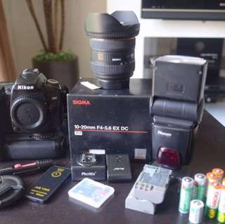 Nikon D90 complete set for photographer