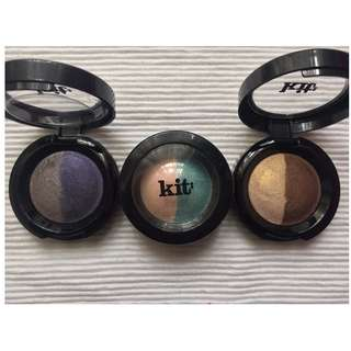 Kit cosmetics eyeshadow duo x 3 set AUTHENTIC