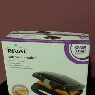 Sandwich Maker. Rival. Brand New In Box. $10.00 only.