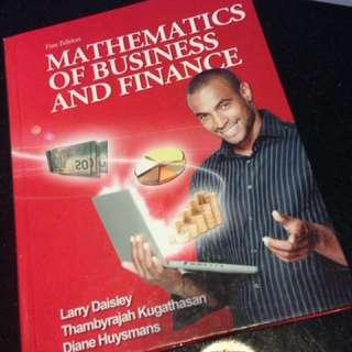 Seneca QNM 106 textbook (mathematics of business and finance)