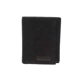 Mens VAN HEUSEN Genuine Leather Trifold Black Wallet. New with tags