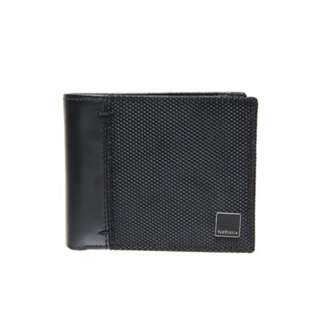 Mens VAN HEUSEN Genuine Leather Bifold Black Wallet. New with tags