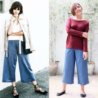 HTP Dark Denim Culottes