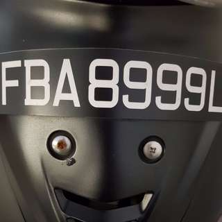 Number Plate w/ bike for sale (Wave 125)