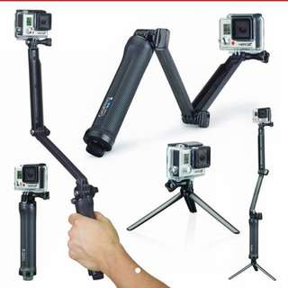 Gopro Hero 3/4/5/6 3 way mount / fodable selfie stick  (OEM)! FREE NEXT DAY DELIVERY