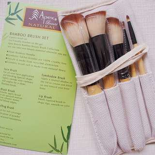Christmas Sale !5 Piece Bamboo Brush with Pouch