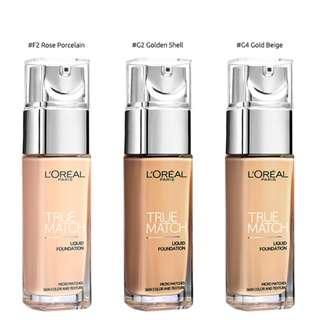 L'Oreal True Match Liquid Foundation - GOLD BEIGE