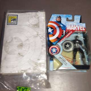 *RARE* MOSC SDCC EXCLUSIVE MARVEL UNIVERSE CAPTAIN AMERICA