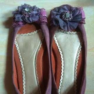 Flat Shoes Purple Sopie Martin