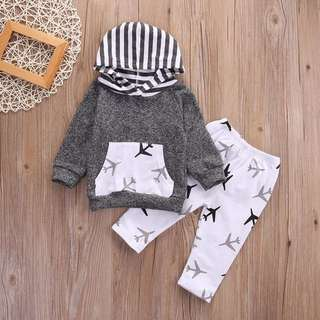 2T - 3T Airplane Long sleeve and Pants Set