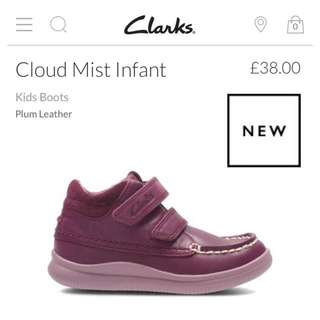 💯Original New CLARKS genuine Leather Girl BOOTS