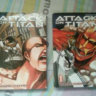 ATTACK ON TITAN (MANGA VER.) VOL.1 & 2 | Seducing Bad Boys Book 1