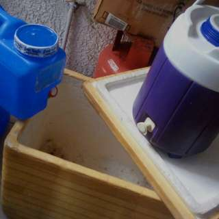 Cooler,water jug 4 pcs all