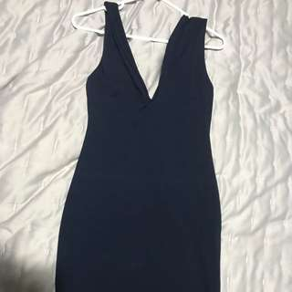Kookai navy blue dress