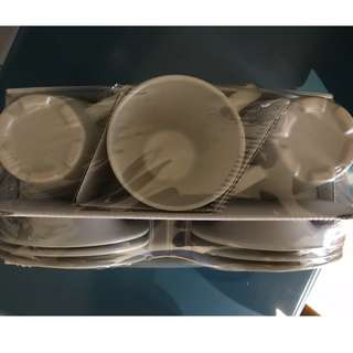 Ikea Mug and Saucer Set (6pc Each)