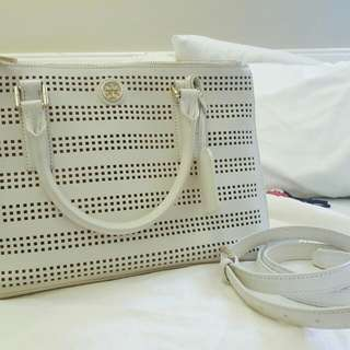 REPRICED Authentic Tory Burch Robinson Perforated Tote