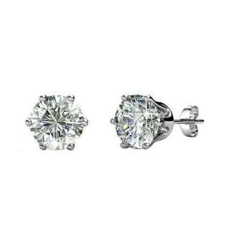 SWAROVSKI CRYSTAL-STARRY NIGHT EARRINGS 3MM (18K WHITE GOLD PLATED)