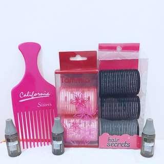 Hair Care Bundle (Sisir, Rudy Hadisuwarno Hair Growth Serum, Dan Hair Roller)