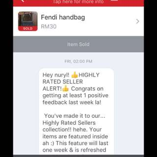 Thanks Carousell for the conpliment.