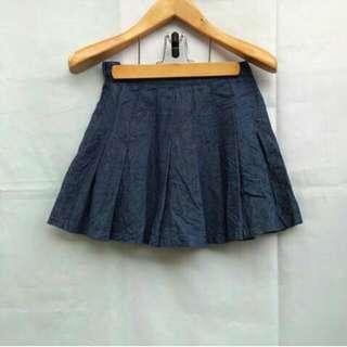 Korean Denim Tennis Skirt