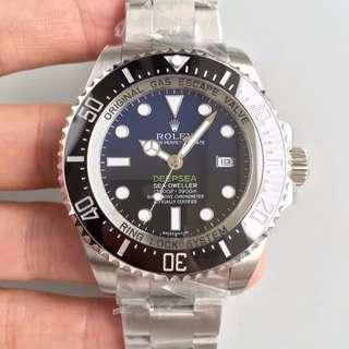 瑞皇名錶 面交睇貨 Rolex 深潛 deepsea 116660 44mm 藍黑雙色面