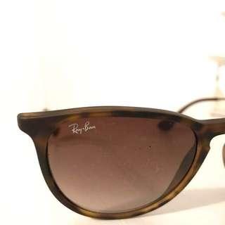 REAL Rayban Sunglasses - 'Erika' style, tortoise brown