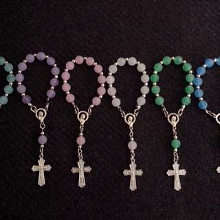 Smoked/Frosted Pocket Rosary Souvenirs giveaways for wedding,baptismal,christening,birthday