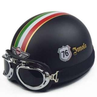 ($36) Retro half Face motorcycle helmet