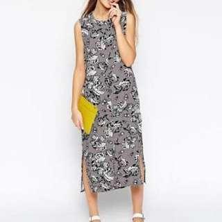 ASOS AFRICA grey sleeveless maxi dress