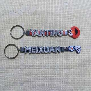 Bling bling personalised keychain