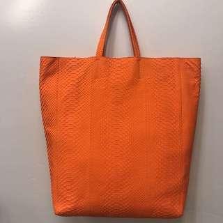 Celine Snakeskin Tote Bag