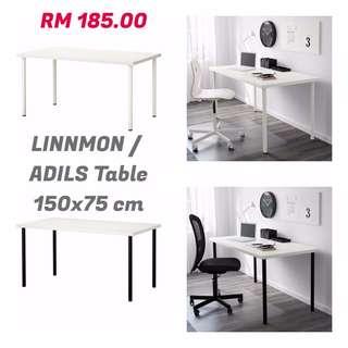 IKEA - LINNMON/ADILS Table, 150 x 75 cm