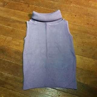 Knitted Sleeveless Turtleneck