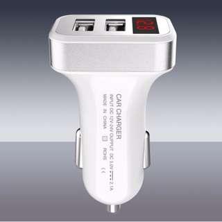 Car USB cum battery voltage meter