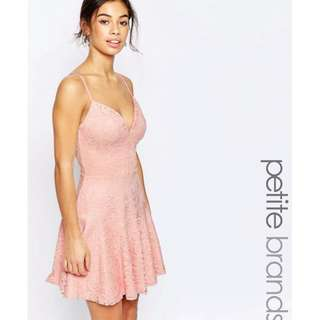 John Zack Petite Cami Lace Prom Dress (ASOS)